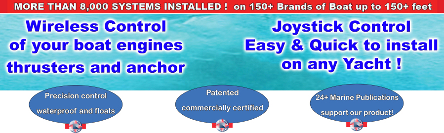 Wireless Control of Boat Engines, Thrusters and Anchor + Joystick Control
