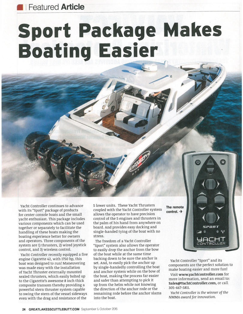 Yacht Controller - Wireless Remote Control of Your Yacht